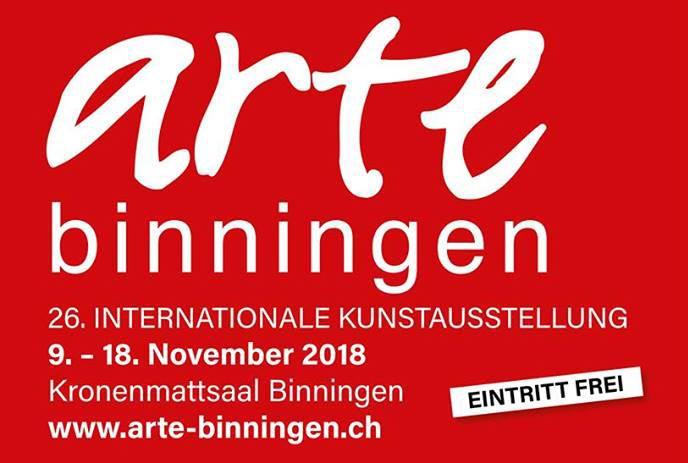 Esposizione ARTE Binningen, Basilea città, 9.-18.11.2018 – Exhibition ARTE Binningen, Basle City – Ausstellung ARTE Binningen-Basel Stadt 2018